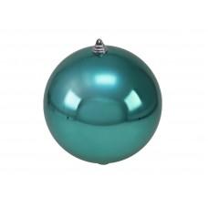 Didelis kalėdinis burbulas EUROPALMS Decoball 20cm, turkio spalvos