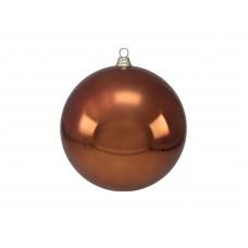 Didelis kalėdinis burbulas eglei EUROPALMS Decoball 30cm, copper