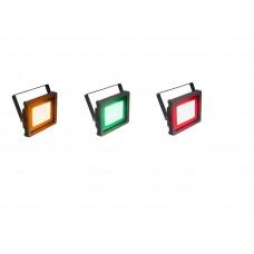 Architektūrinių lauko šviesos efektų rinkinys. Geltona, žalia, raudona.