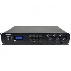 3-jų zonų stereo stiprintuvas su mikšeriu ir vidiniu grotuvu, 3 x 2 x 200W