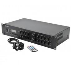 2-jų zonų stereo stiprintuvas su mikšeriu ir vidiniu grotuvu, 4 x 200W