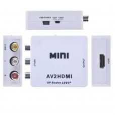 Keitiklis AV (analoginis Audio + Video) RCA - HDMI