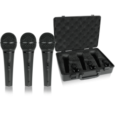 Dinaminių vokalinių instrumentinių mikrofonų komplektas 3 vnt