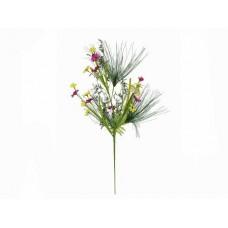 Dirbtinė laukinės gėlės šakelė 60cm