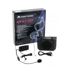 Gido sistema OMNITRONIC BHD-02 su pakrovėju ir įkraunamomis baterijomis