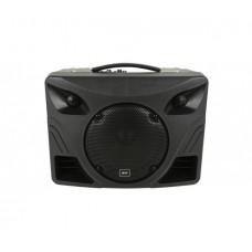 Įkraunama nešiojama garso sistema USB/SD/FM/Bluetooth + 2x VHF belaidžiai mikrofonai