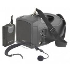 Nešiojama aktyvi garso kolonėlė su USB grotuvu ir VHF mikrofonu H25