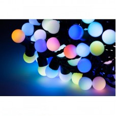 Burbuliukų girlianda LED RGB 10 metrų 100 vnt lempučių